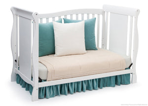 Delta Children White (100) Brookside 4-in-1 Crib, Day Bed Conversion a4a