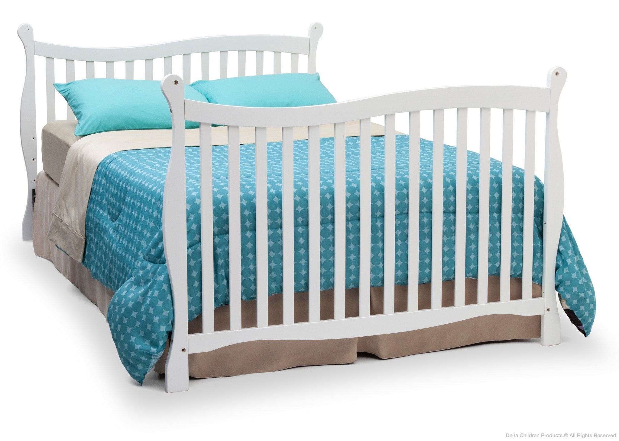 Delta Children White (100) Brookside 4-in-1 Crib, Full-Size Bed Conversion a5a