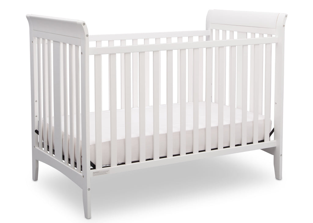 Delta Children White (100) Parkside 3-in-1-Crib, Crib Conversion a3a