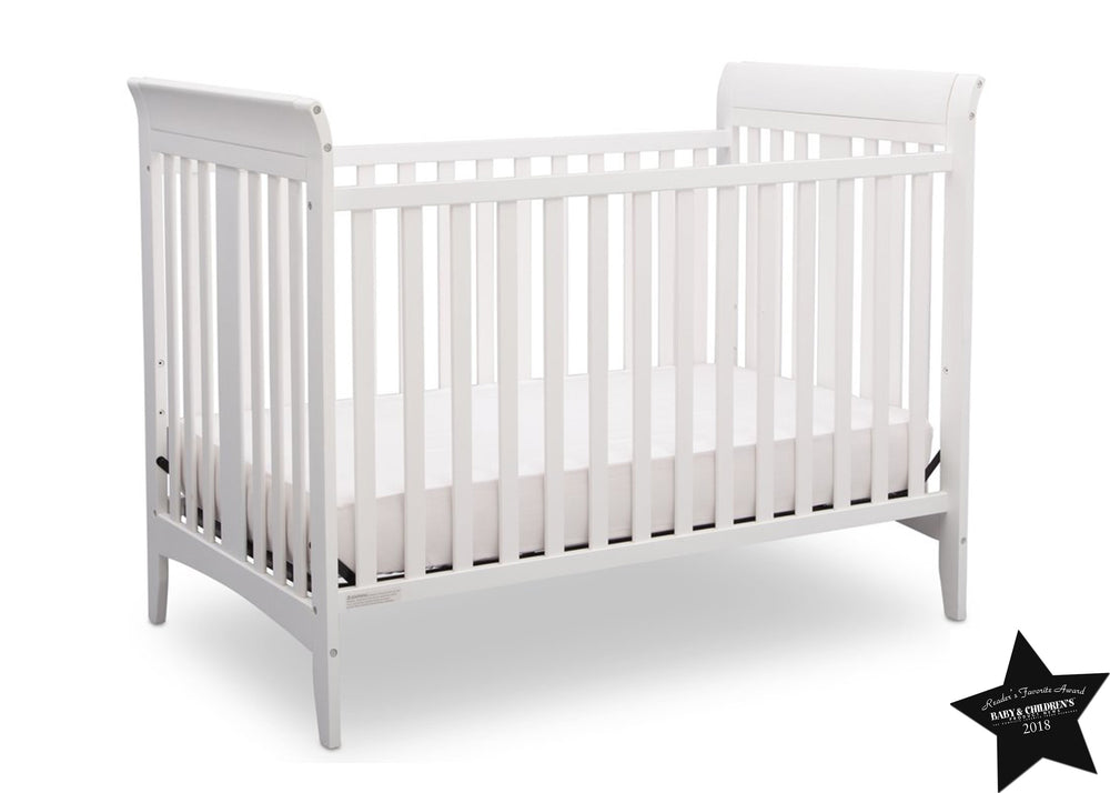Delta Children White (100) Parkside 3-in-1-Crib, With Seal a7a