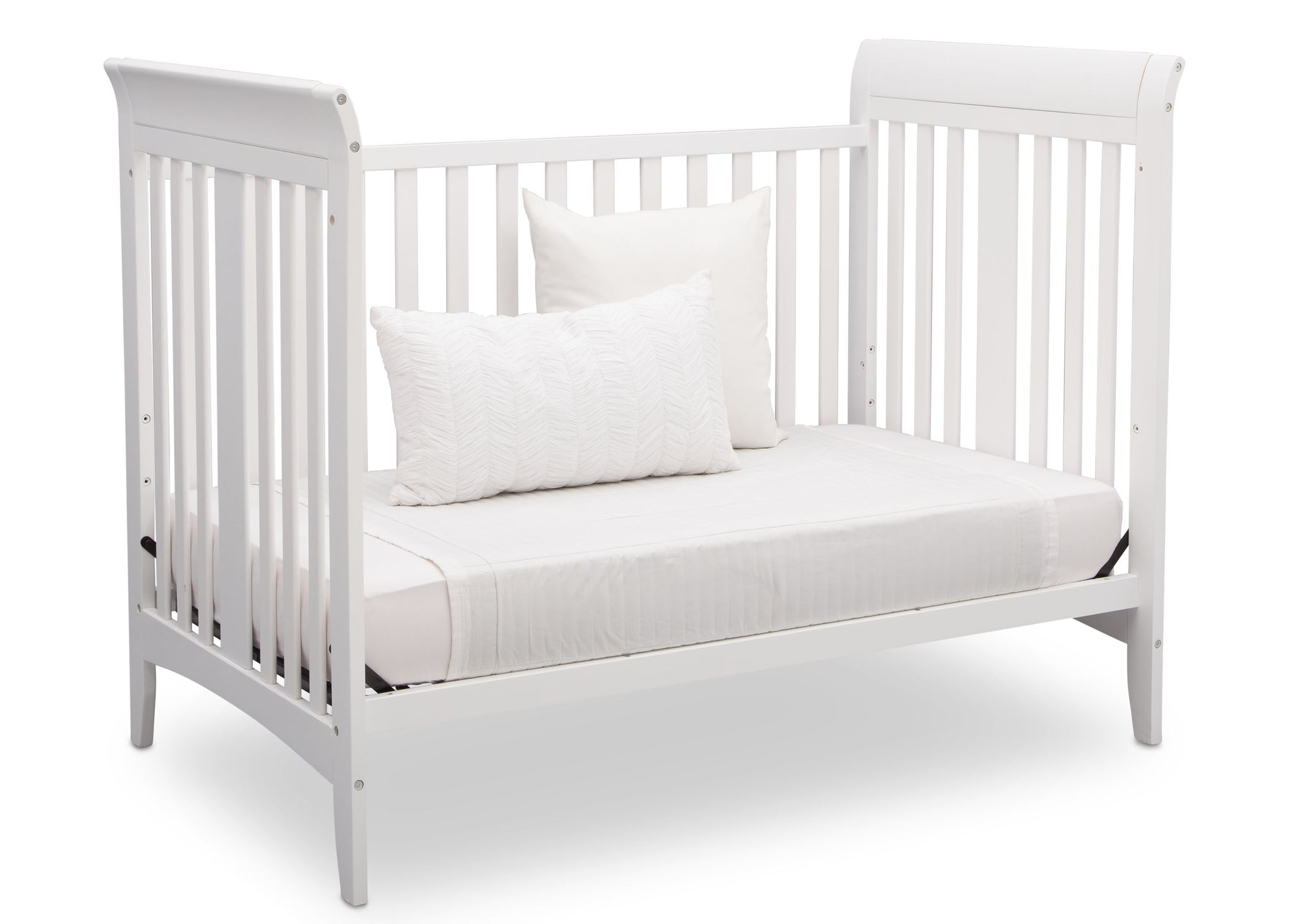 Delta Children White (100) Parkside 3-in-1-Crib, Day Bed Conversion a6a