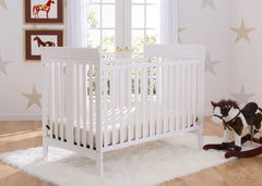 Delta Children White (100) Parkside 3-in-1-Crib, room shot a1a
