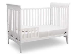 Delta Children White (100) Parkside 3-in-1-Crib, Toddler Bed Conversion a5a