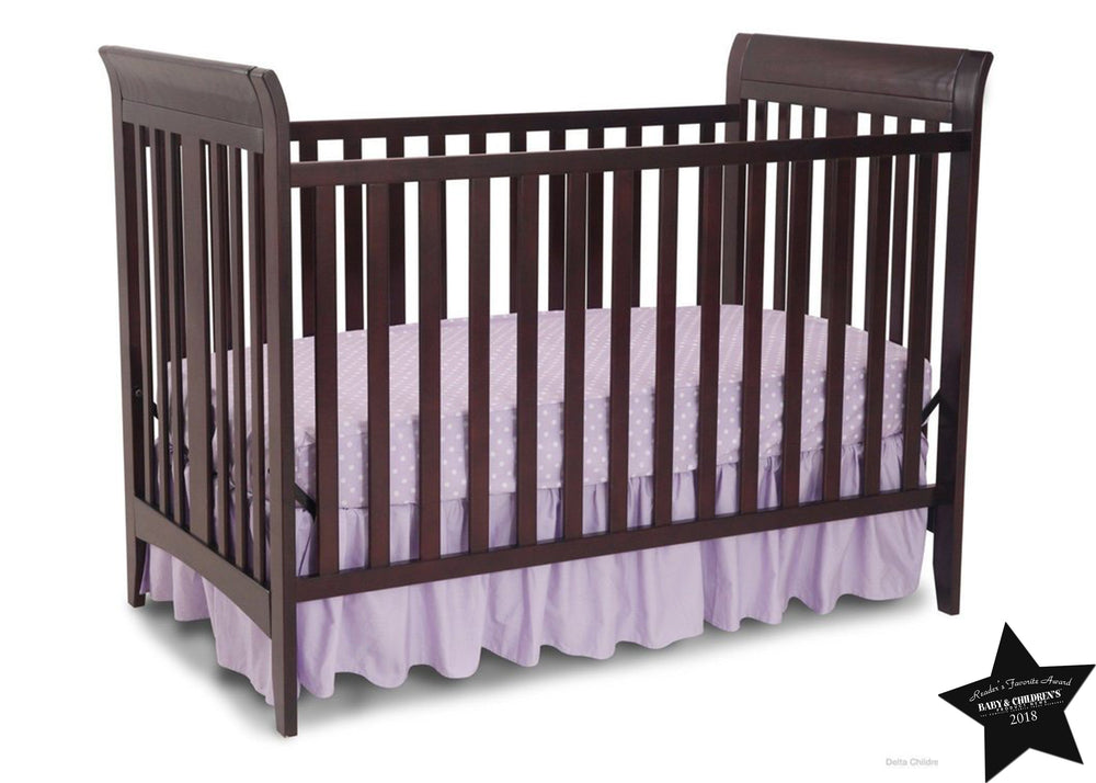 Delta Children Dark Chocolate (207) Parkside 3-in-1-Crib, With Seal b5b