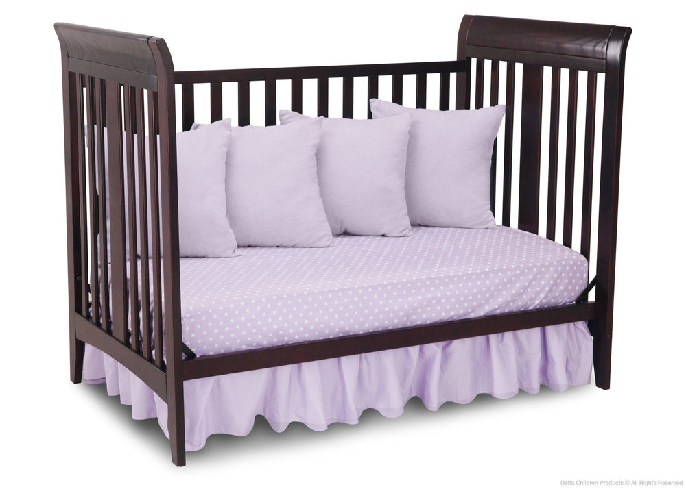 Delta Children Dark Chocolate (207) Parkside 3-in-1-Crib, Day Bed Conversion b4b