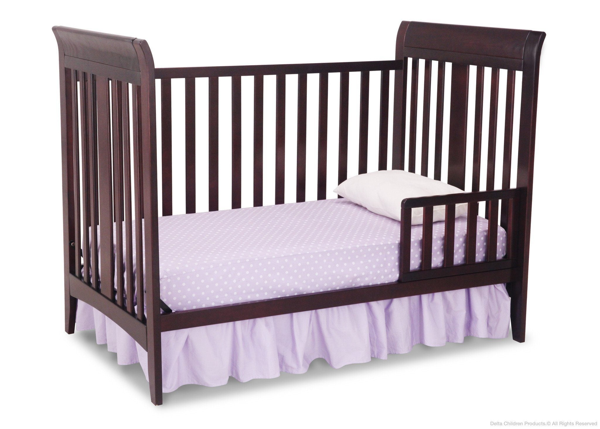Delta Children Dark Chocolate (207) Parkside 3-in-1-Crib, Toddler Bed Conversion b3b