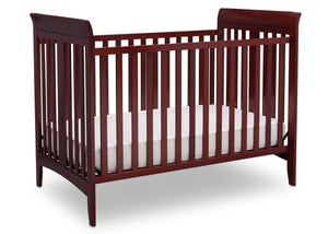 Delta Children Cabernet (648) Parkside 3-in-1-Crib, angled crib conversion c2c