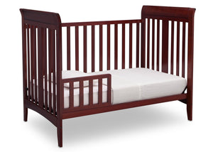 Delta Children Cabernet (648) Parkside 3-in-1-Crib, Toddler Bed Conversion c3c