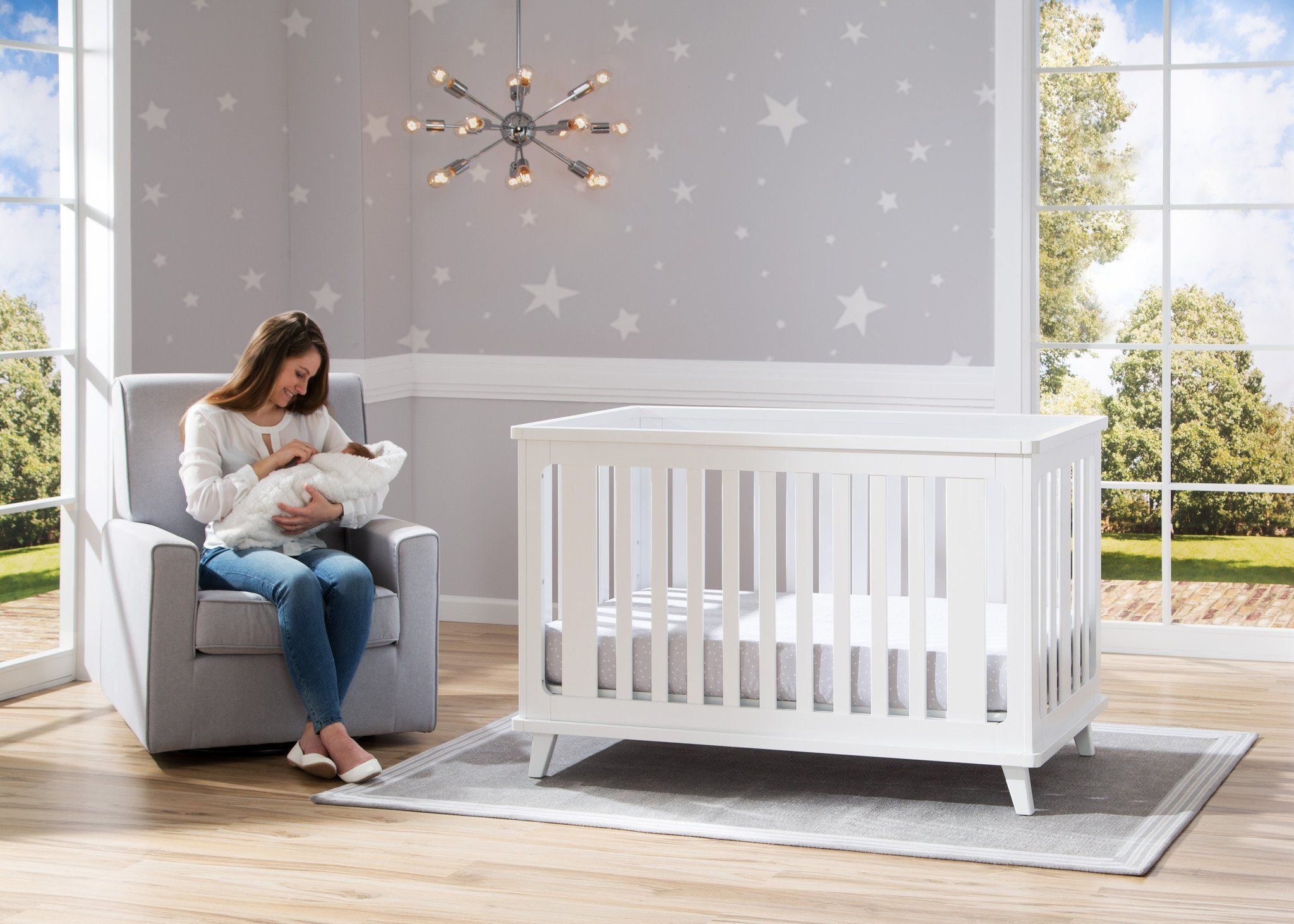Delta Children Heather Grey (053) Eva Glider Room
