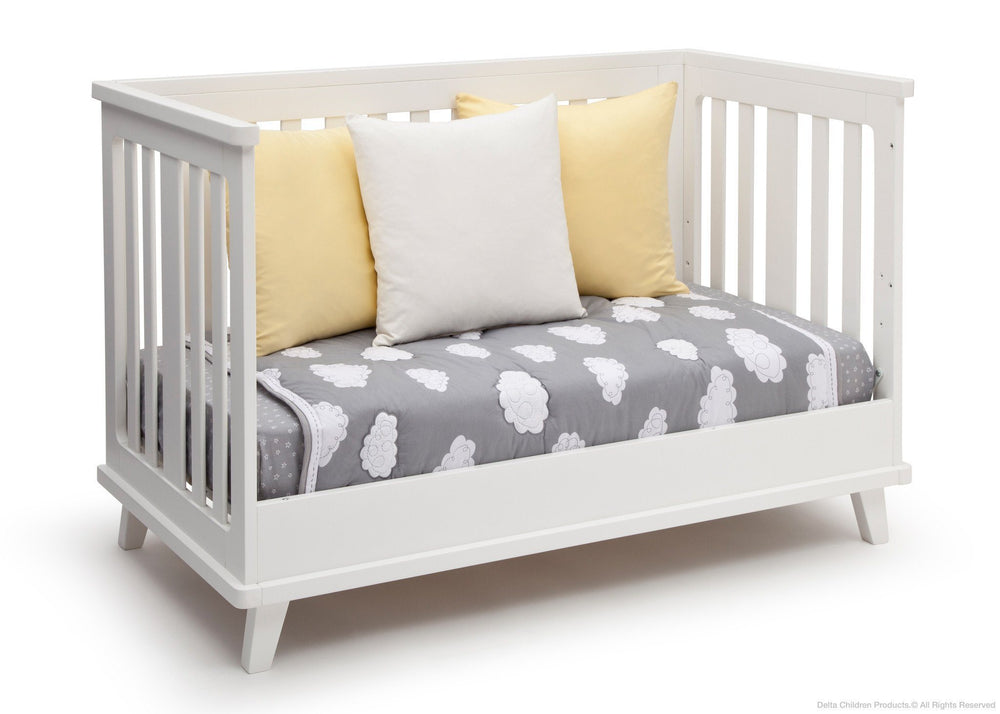Delta Children White (100) Ava 3-in-1 Crib Daybed Conversion a5a