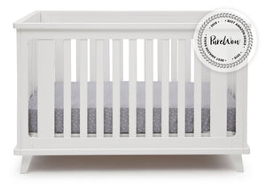 Delta Children White (100) Ava 3-in-1 Crib a2a with badge