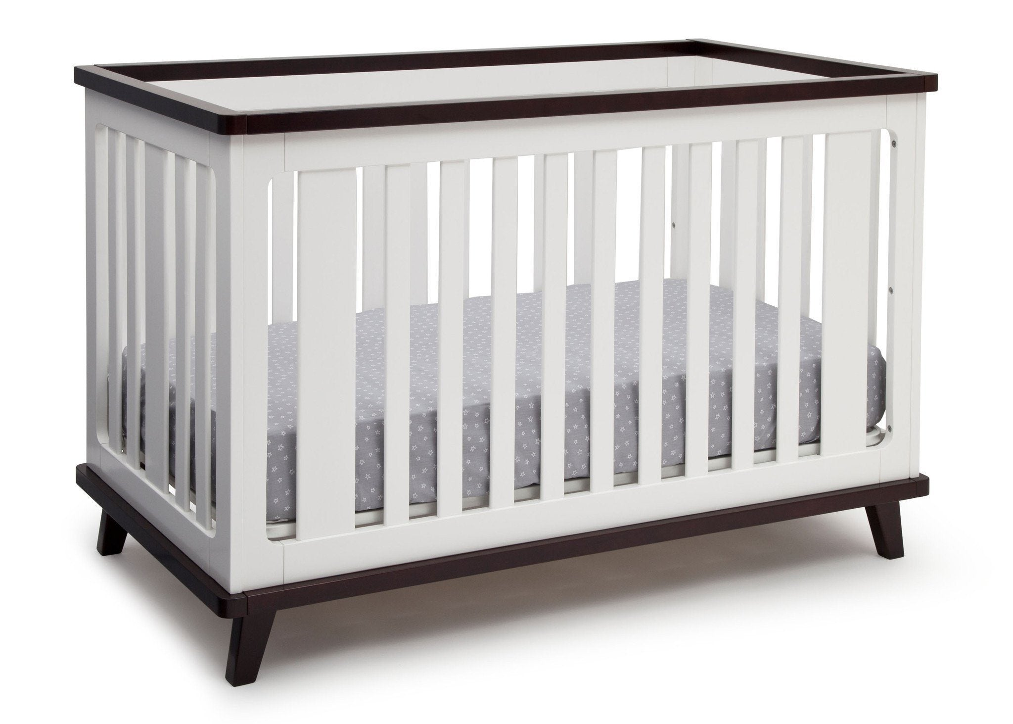 Delta Children White with Black Espresso (141) Ava 3-in-1 Crib b4b