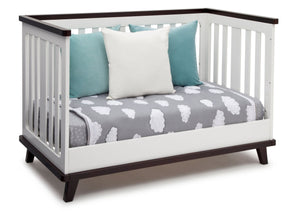 Delta Children White with Black Espresso (141) Ava 3-in-1 Crib Daybed Conversion b6b