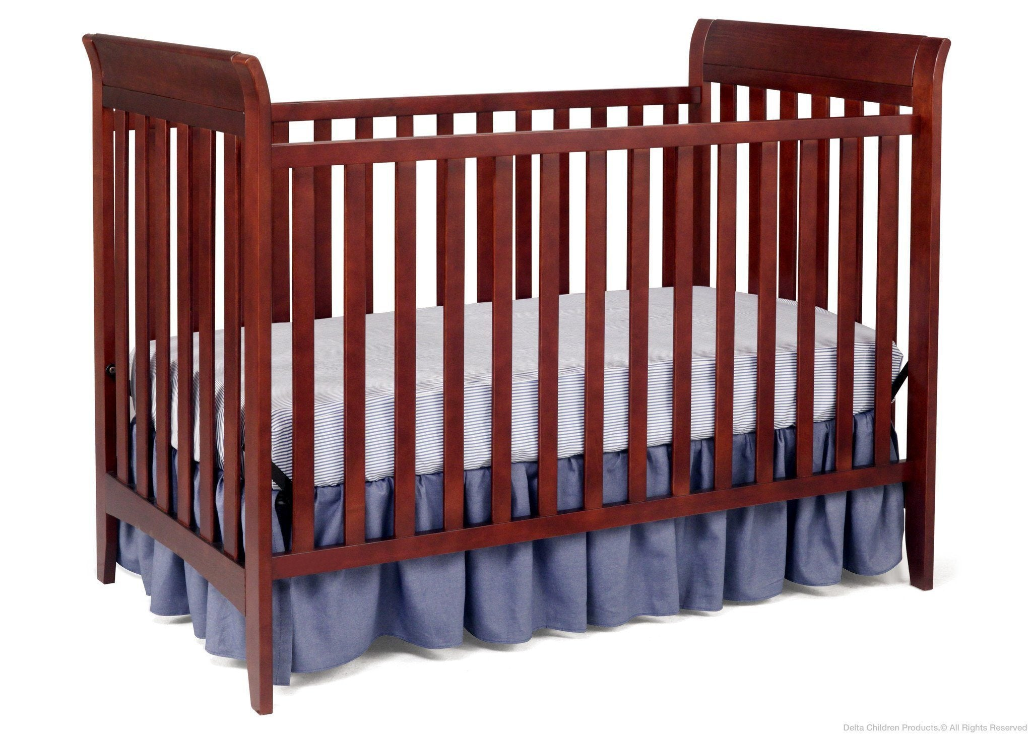Delta Children Black Cherry Espresso (607) Bayside 3-in-1 Crib a2a