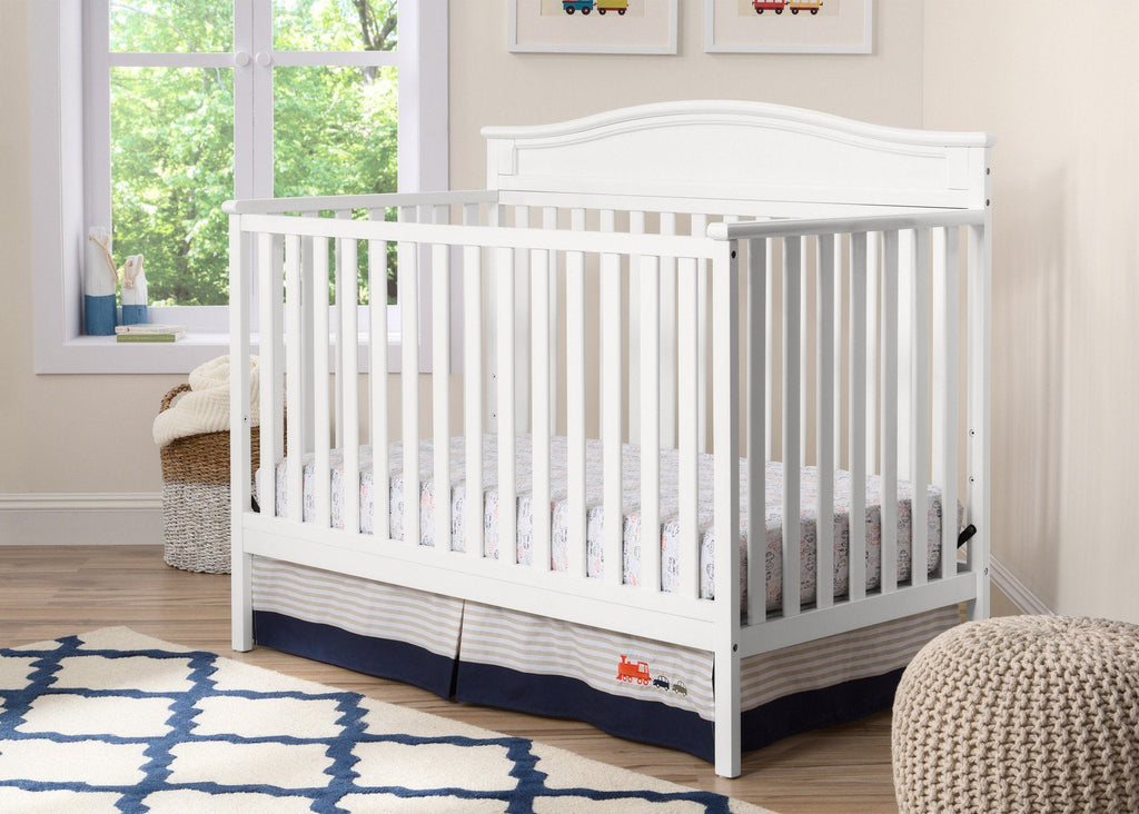 Attractive Delta Children White (100) Larkin 4 In 1 Crib With Props 2