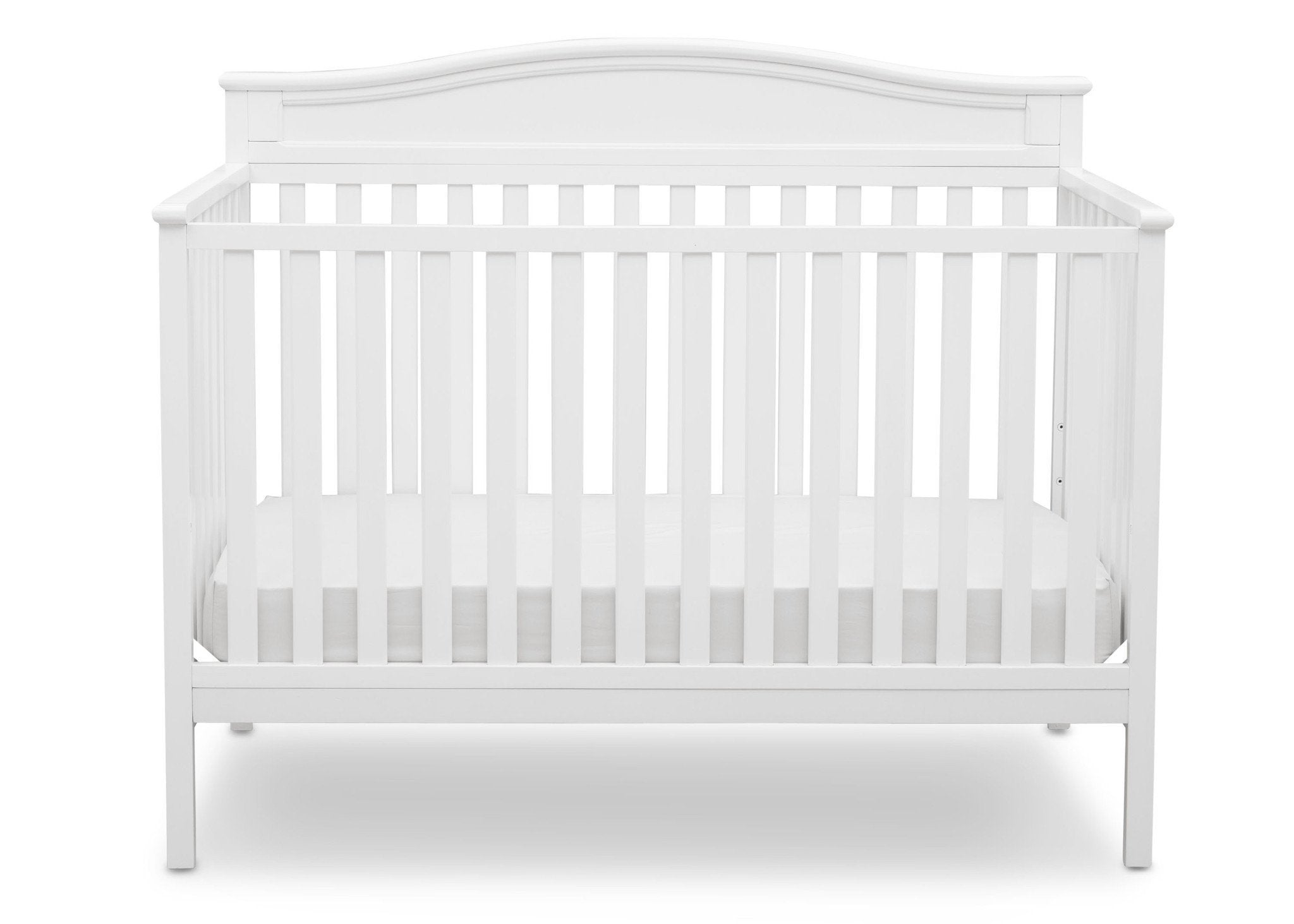 ... Delta Children White (100) Larkin 4 In 1 Crib, Front View ...