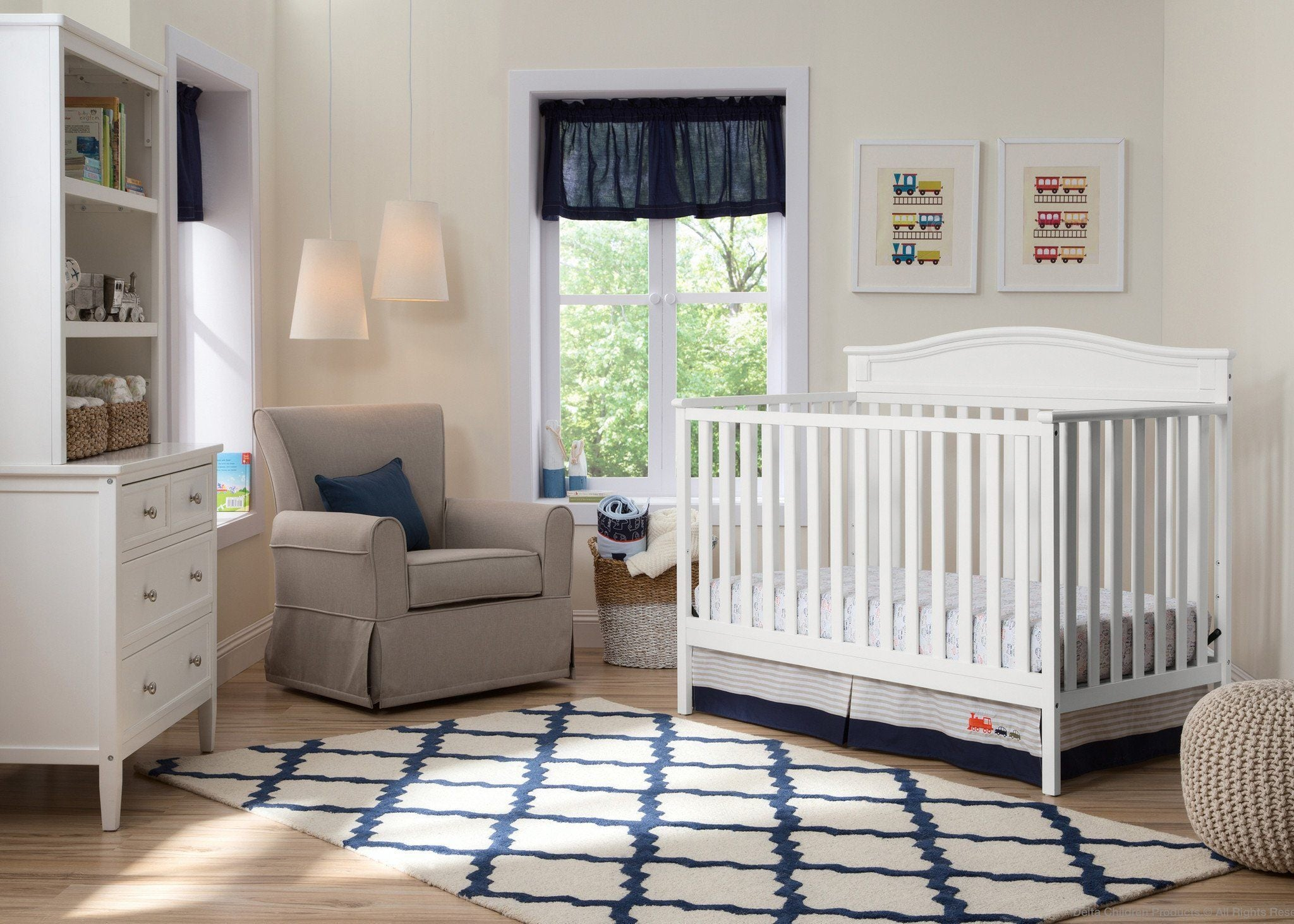 ... Delta Children White (100) Larkin 4 In 1 Crib With Props, ...