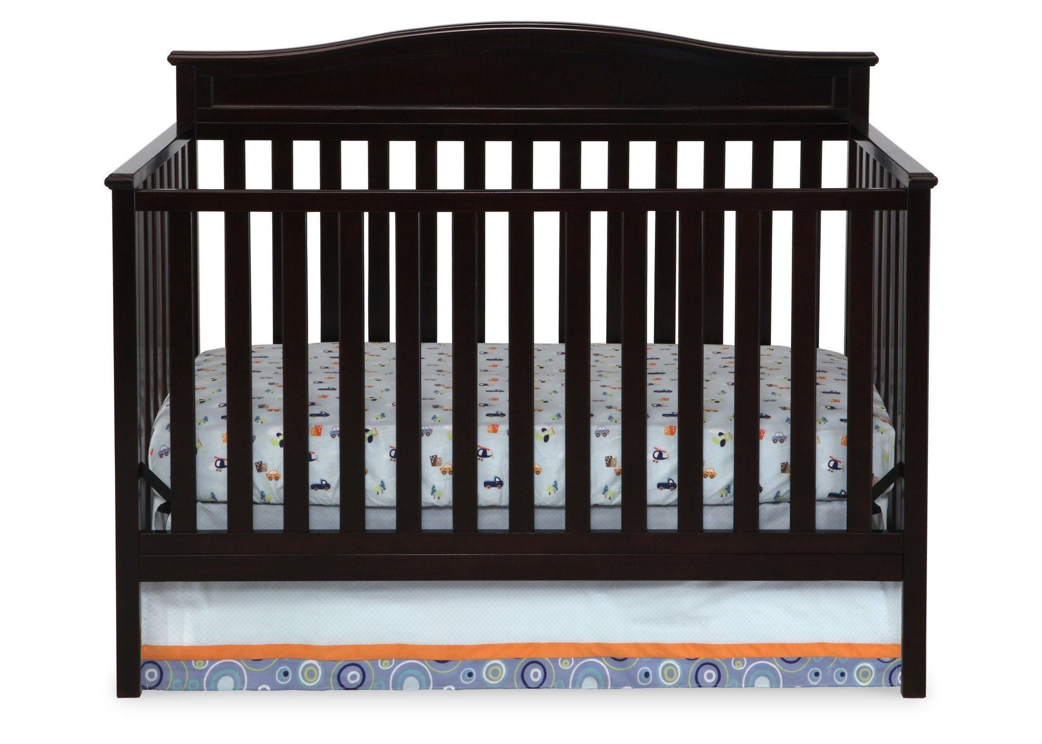 ... Delta Children Dark Chocolate (207) Larkin 4 In 1 Crib, Front ...