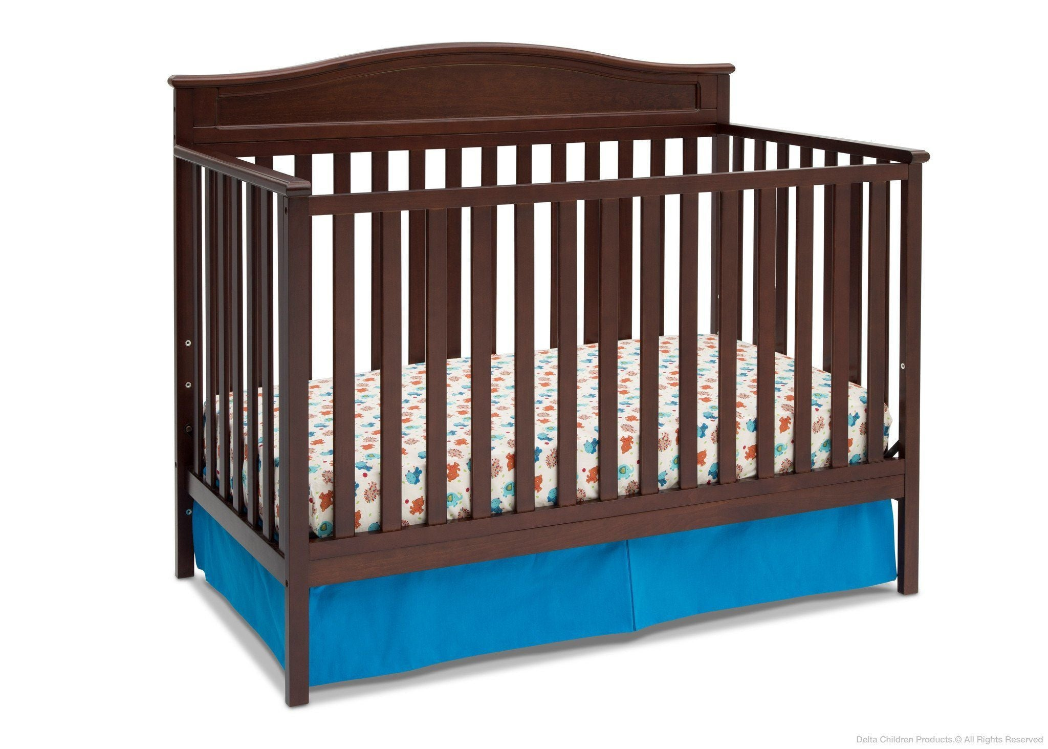 Delta Children Black Cherry Espresso (607) Larkin 4 In 1 Crib, ...