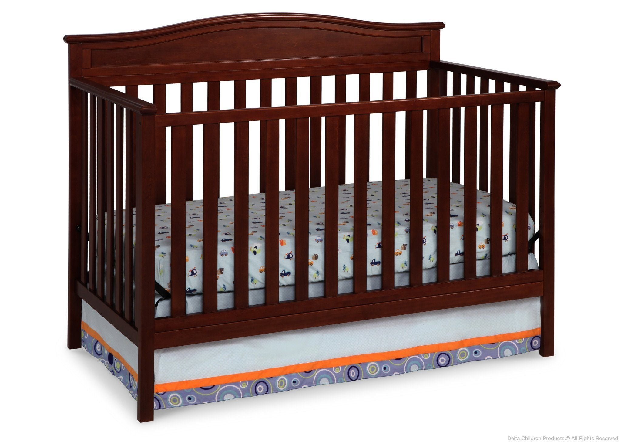 Delta Children Merlot (615) Larkin 4 In 1 Crib, Crib Conversion ...