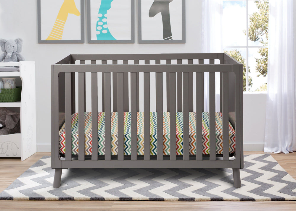 Delta Children Classic Grey (028) Manhattan 3-in-1 Crib, hangtag, a1a