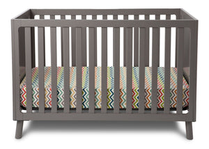 Delta Children Classic Grey (028) Manhattan 3-in-1 Crib, Crib Conversion a2a