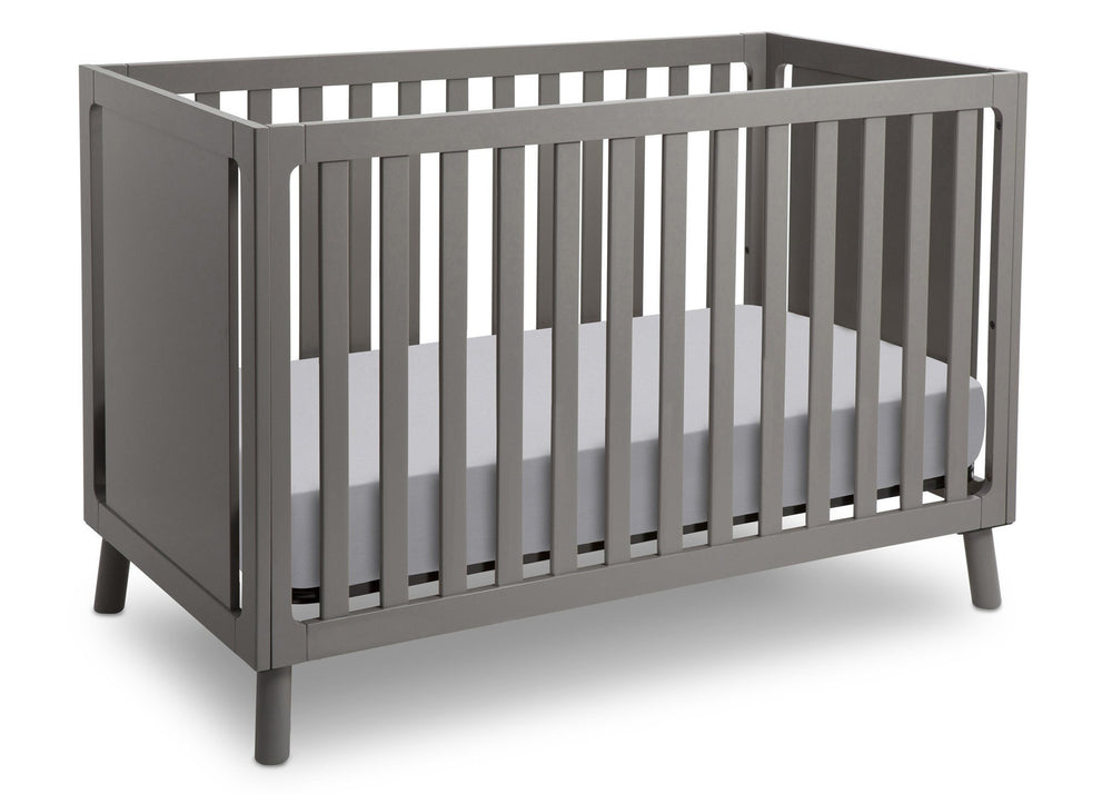 Delta Children Classic Grey (028) Manhattan 3-in-1 Crib, Crib Conversion a3a