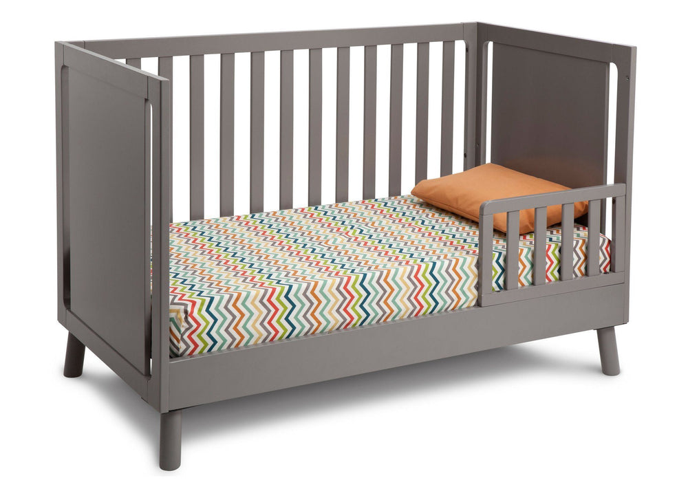 Delta Children Classic Grey (028) Manhattan 3-in-1 Crib, Toddler Bed Conversion a4a