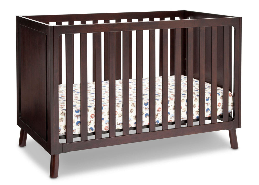 Delta Children Dark Chocolate (207) Manhattan 3-in-1 Crib, Crib Conversion b2b