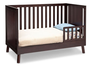 Delta Children Dark Chocolate (207) Manhattan 3-in-1 Crib, Toddler Bed Conversion b4b
