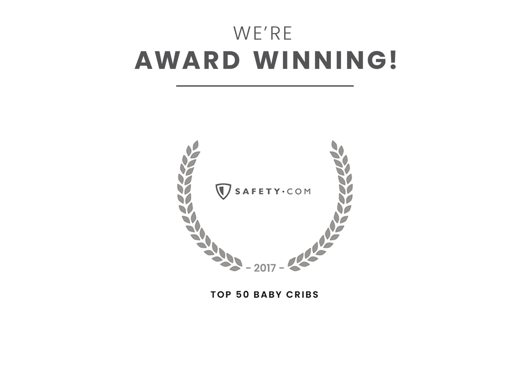 Award badge for Top 50 Baby Cribs Black (001)