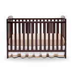 Delta Children Dark Chocolate (207) Capri 3-in-1-Crib (6922), Front View, d3d