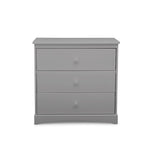Sutton 3 Drawer Dresser with Changing Top (Grey)
