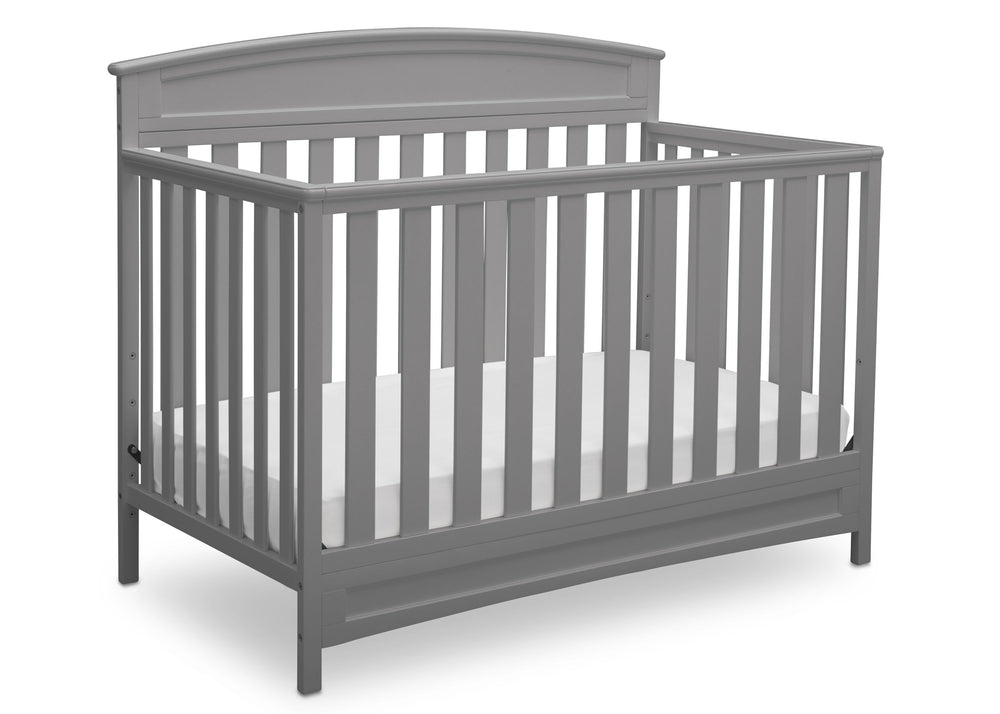 Delta Children Grey (026) Sutton 4-in-1 Convertible Crib Right Silo View