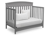 Delta Children Grey (026) Sutton 4-in-1 Convertible Crib Day Bed Silo View