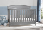 Delta Children Grey (026) Sutton 4-in-1 Convertible Crib Hangtag View