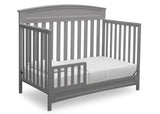 Delta Children Grey (026) Sutton 4-in-1 Convertible Crib Toddler Bed Silo View