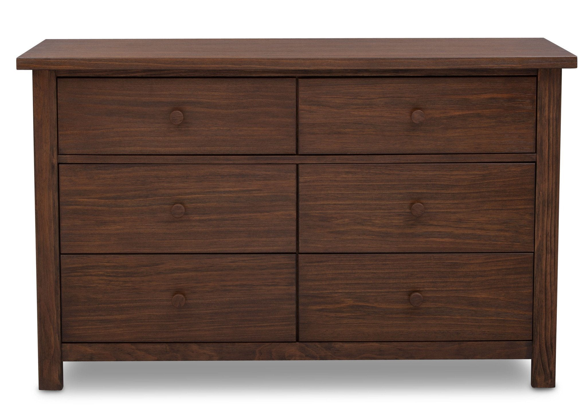 Serta Rustic Oak (229) Northbrook 6 Drawer Dresser, Front View b1b