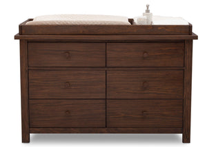Serta Rustic Oak (229) Northbrook 6 Drawer Dresser, Front View with Props 1 b3b
