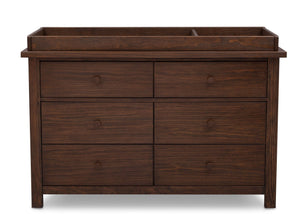 Serta Rustic Oak (229) Northbrook 6 Drawer Dresser, Front View with Top