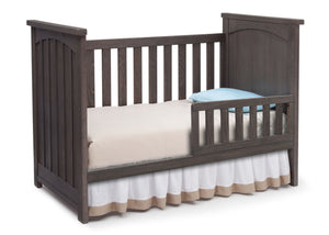 Serta Rustic Grey (084) Northbrook 3-in-1 Crib, Toddler Bed Conversion with Side View a4a
