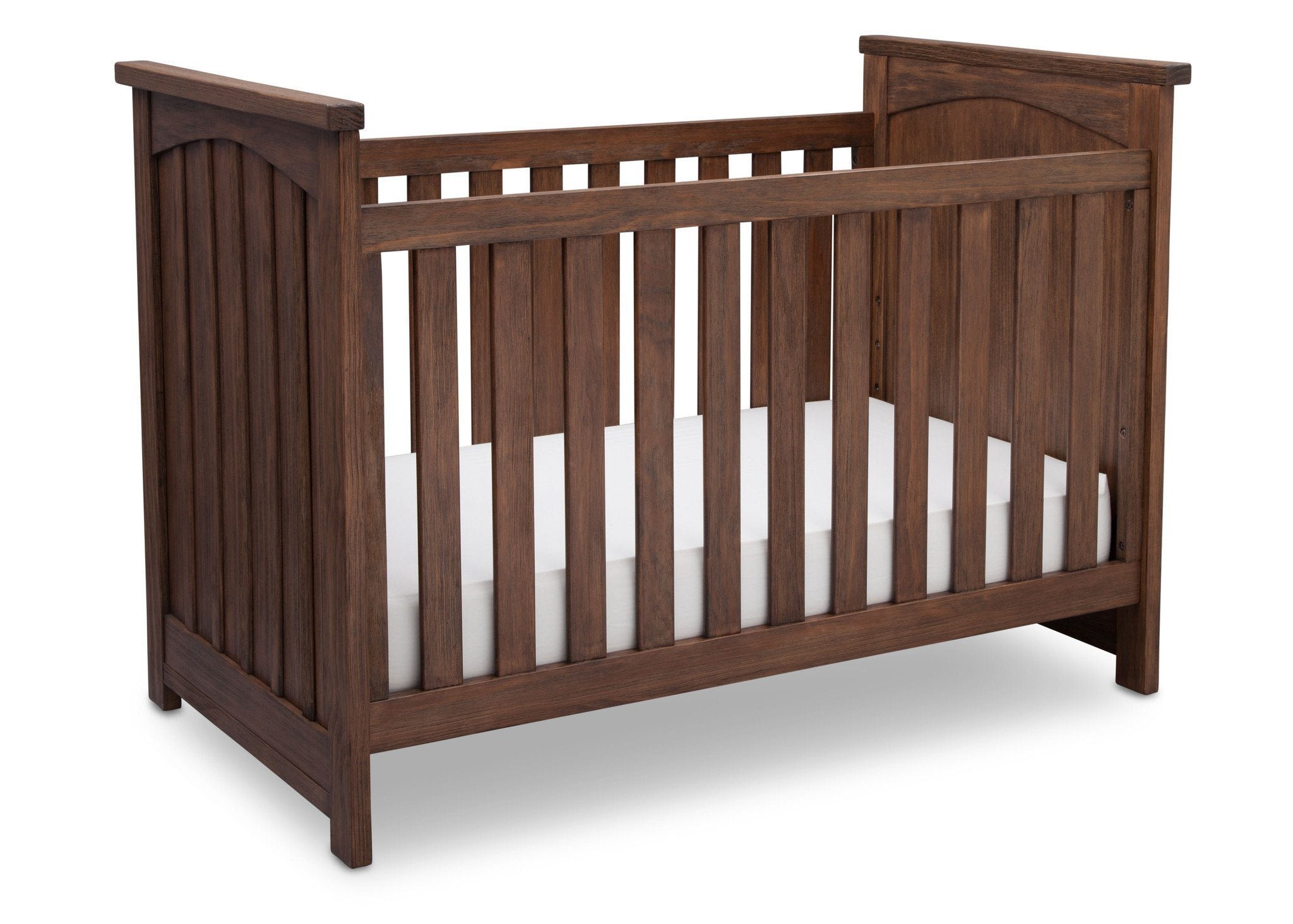 Serta Rustic Oak (229) Northbrook 3-in-1 Crib, Crib Conversion with Side View b3b