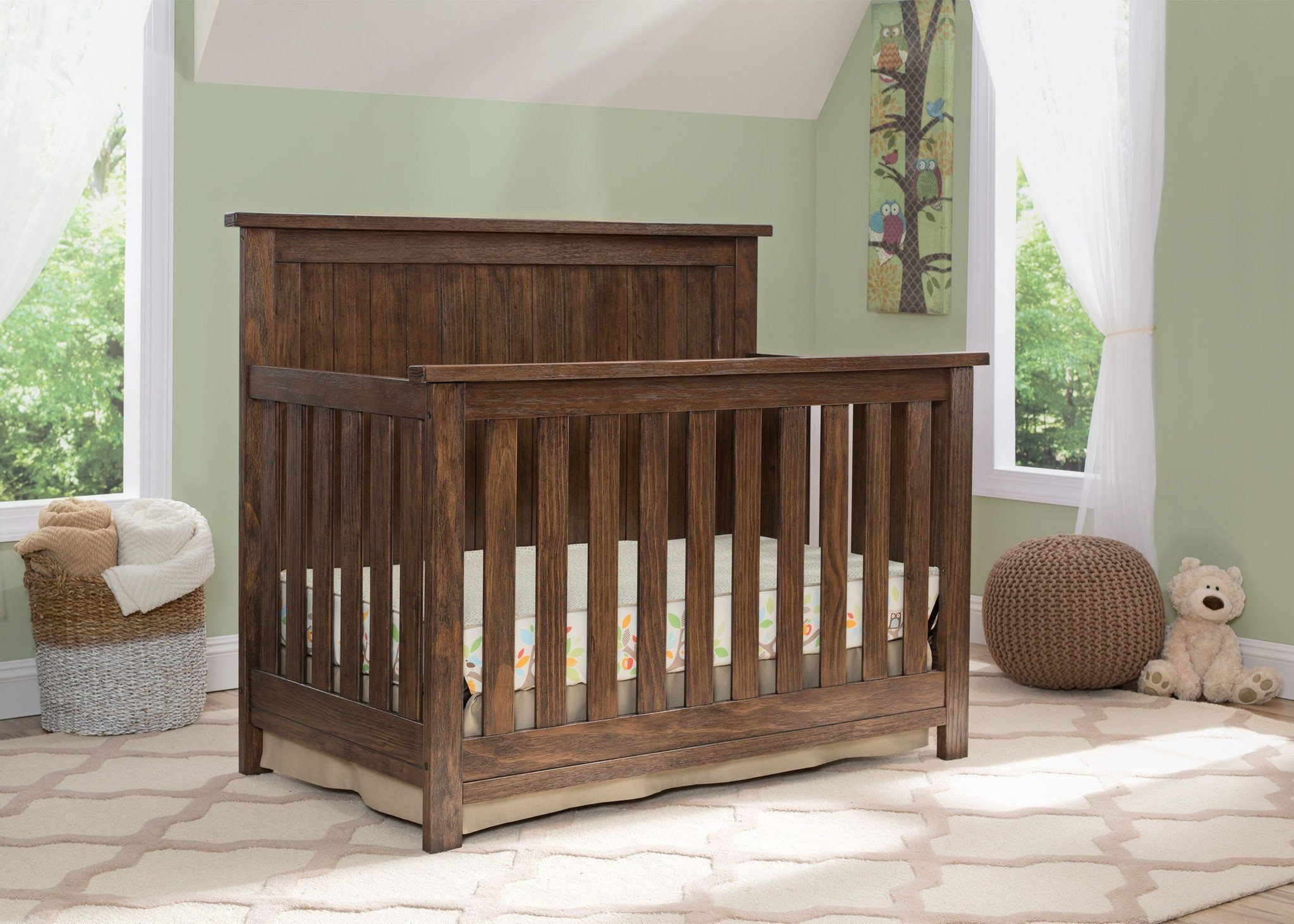 jr cribs product oak carlisle crib j woodworking r collection