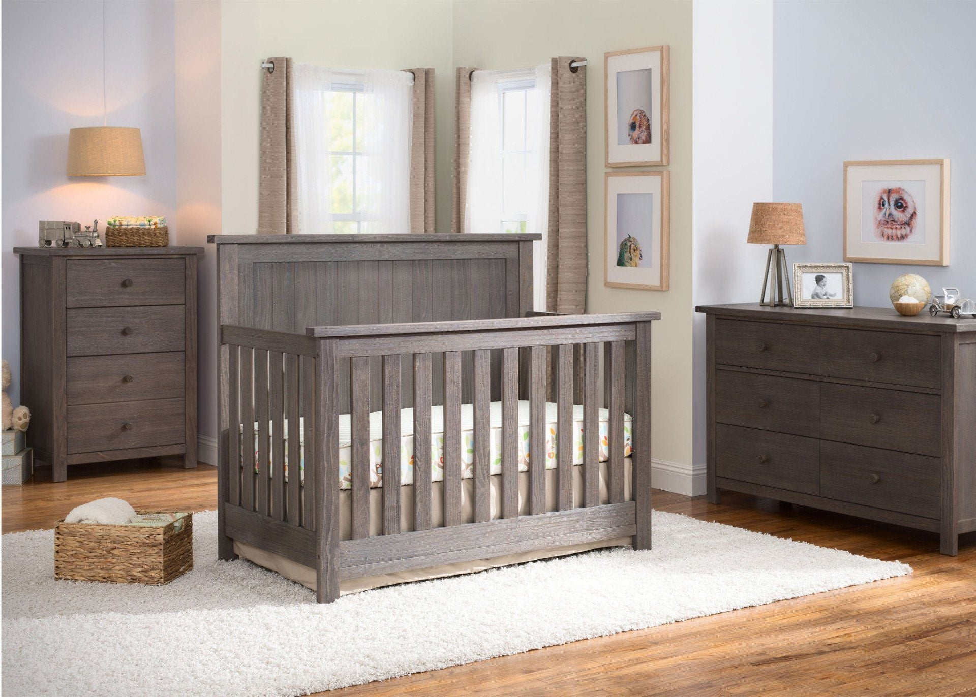 Serta Rustic Grey (084) Northbrook 4-in-1 Crib, Room View a0a