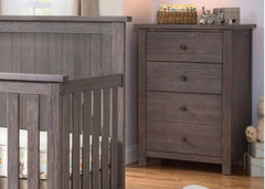 Serta Rustic Grey (084) Northbrook 3 Drawer Chest Room View a0a