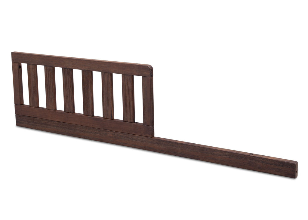 Serta Rustic Oak (229) Toddler Guardrail/Daybed Rail Kit, Side View b1b for Northbrook 4-in-1 Convertible Crib