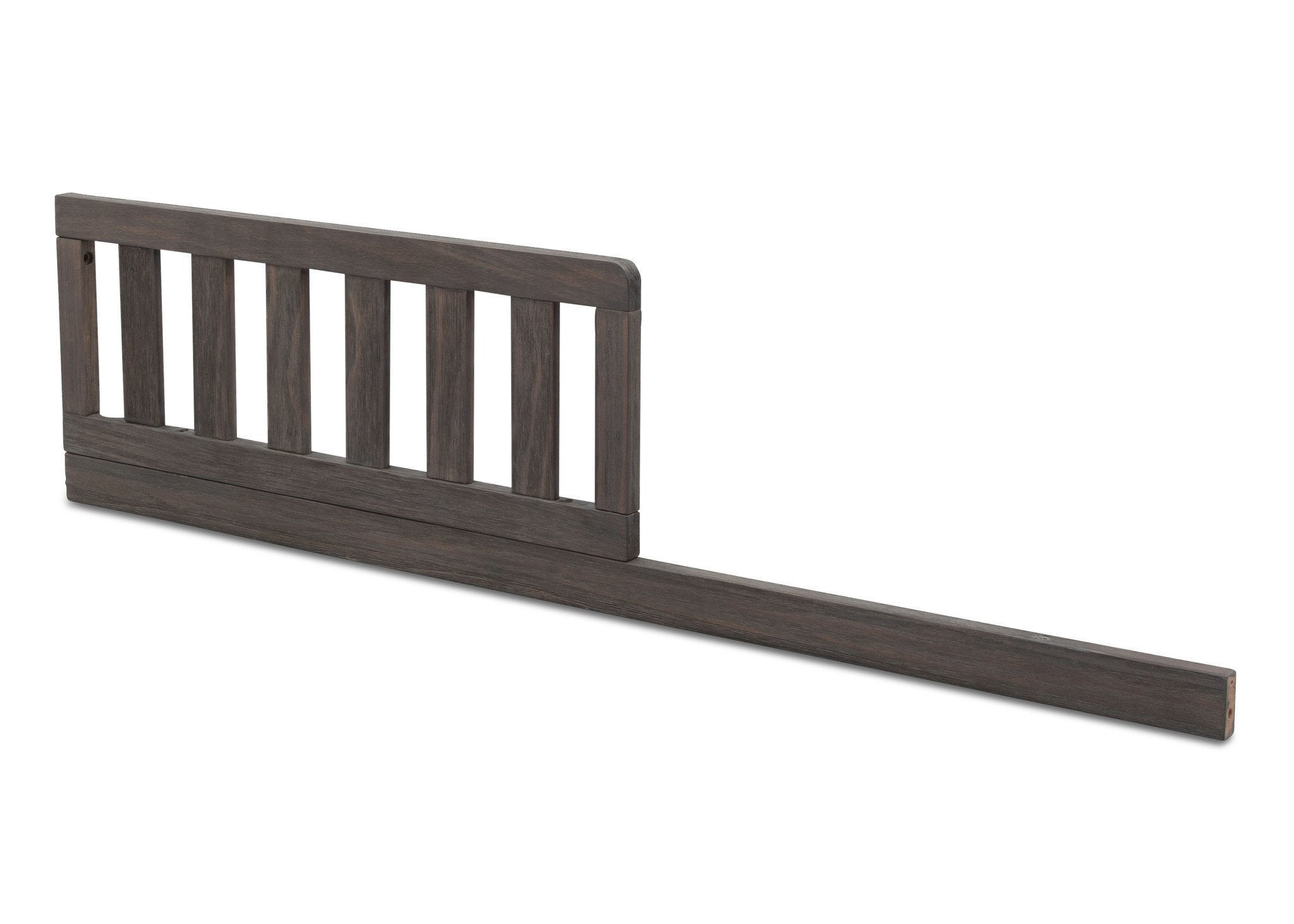 Serta Toddler Rustic Grey (084) Guardrail/Daybed Rail Kit (700726) Side View a2a