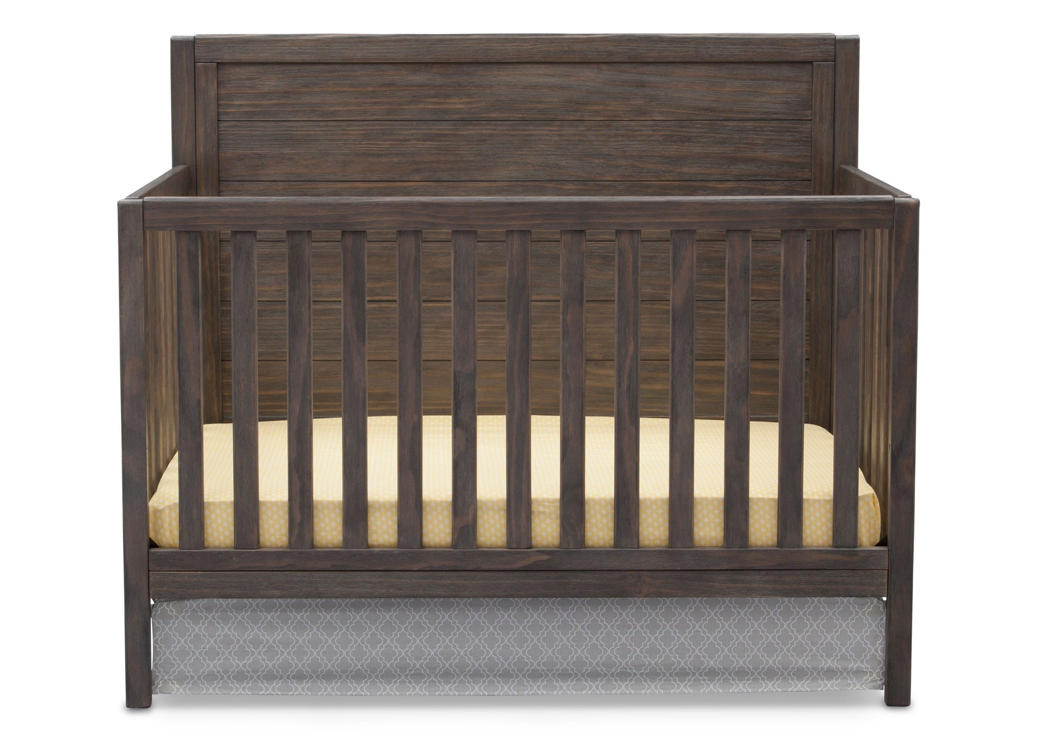 Serta Rustic Grey (084) Cambridge 4-in-1 Convertibel Crib, Front View a2a
