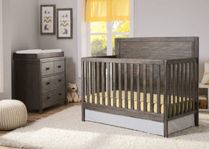 Serta Rustic Grey (084) Cambridge 4-in-1 Convertibel Crib, Room View a1a