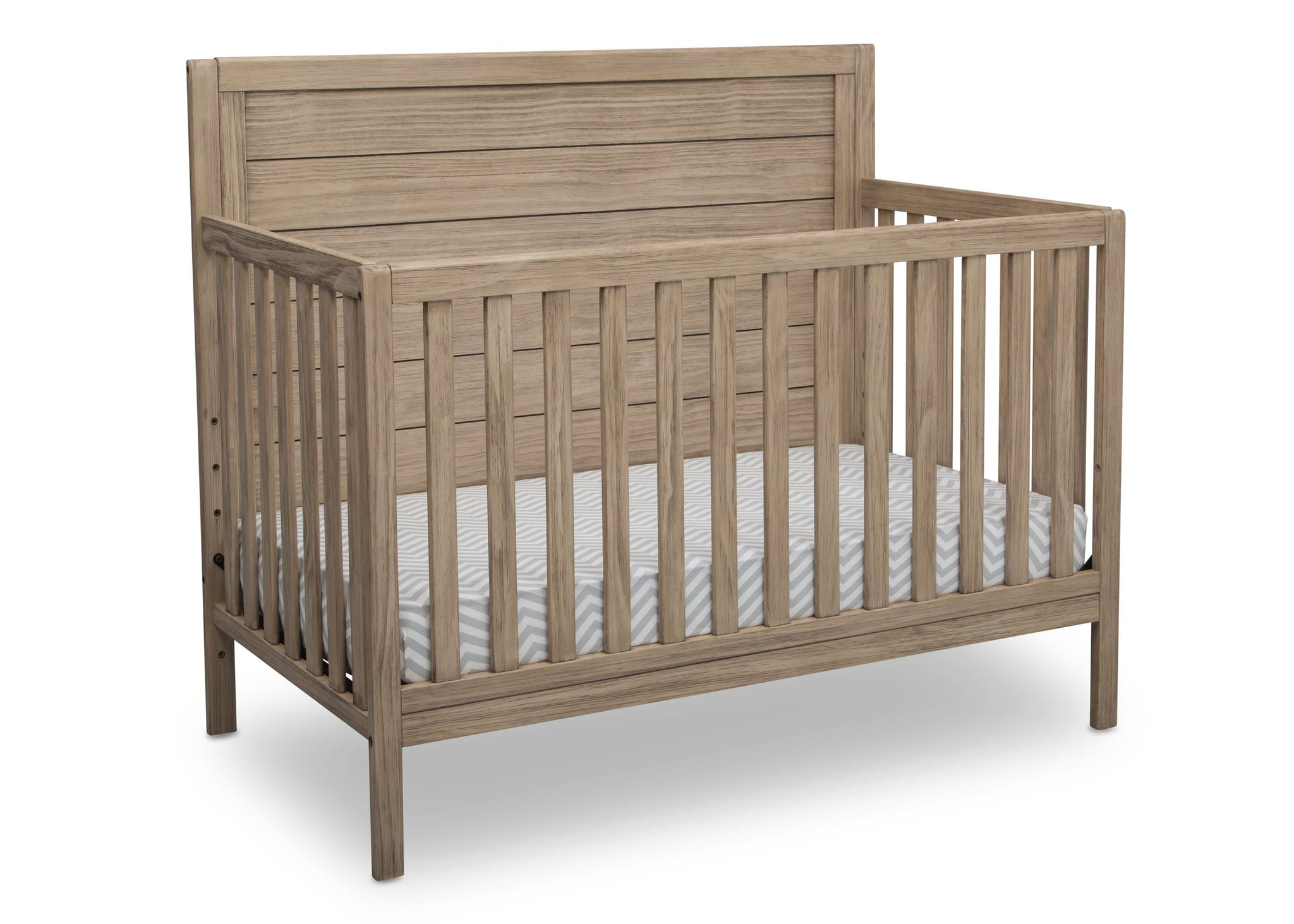 Serta Rustic Driftwood (112) Cambridge 4-in-1 Converiblel Crib, Angled View b3b